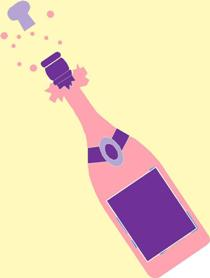 celbration champagne bottle
