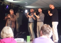Flute players at the lemon tree